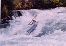 Jennie Goldberg takes 'da chute on Oregon's Deschutes River